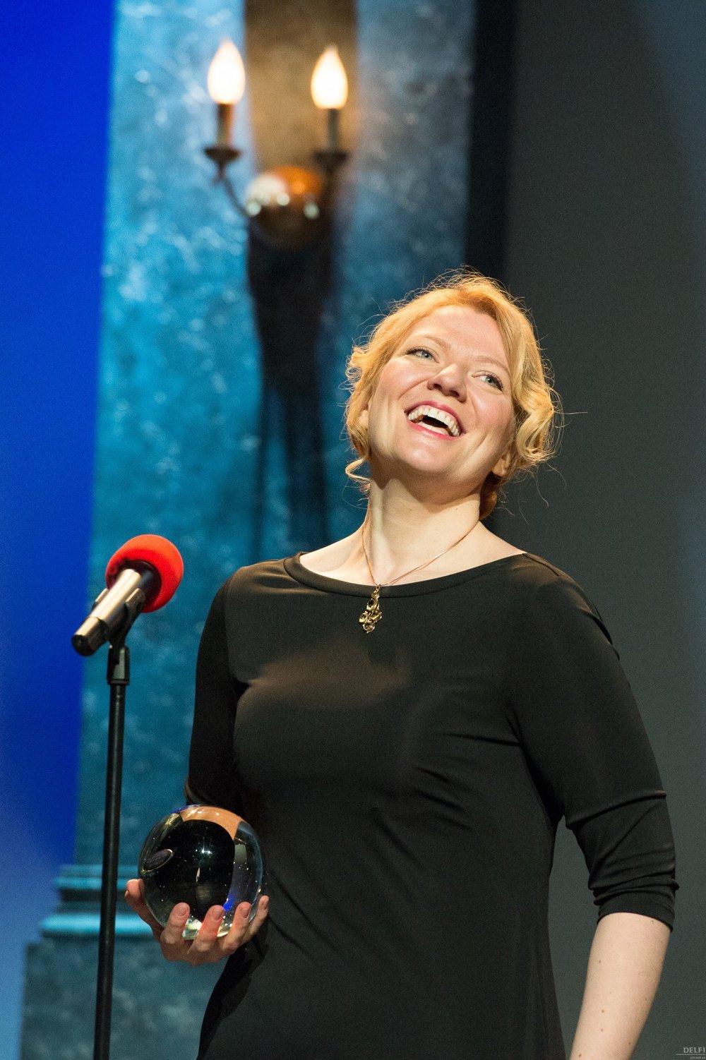 Aile Asszonyi receives the Estonian Theatre Award 2012