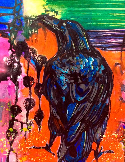 Technicolour Raven