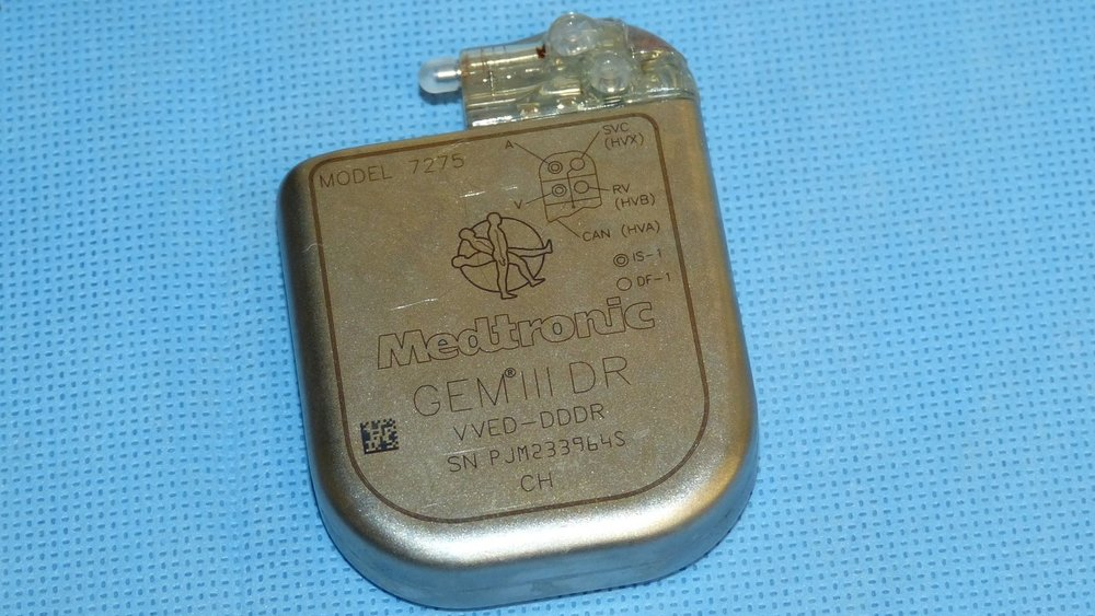 This is a 1980's Medtronic pacemaker.
