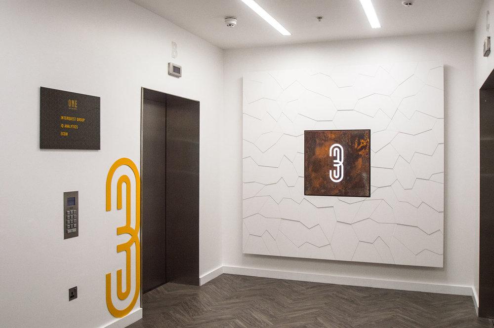 Lift Lobby with branding