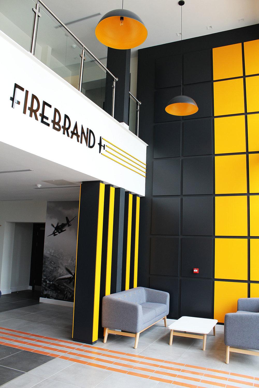 Internal branding entrance