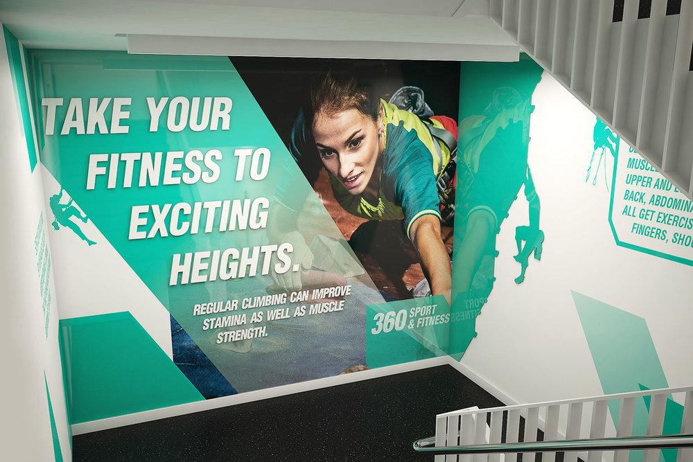 Stairwell sports graphic