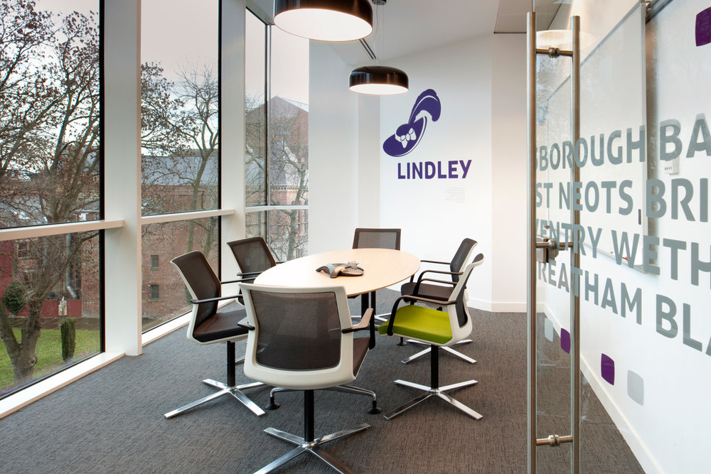 Office meeting room with vinyl wall graphics