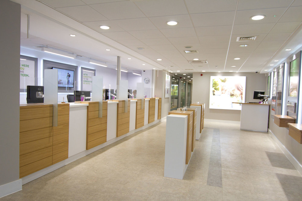 Customer service area with timber finish