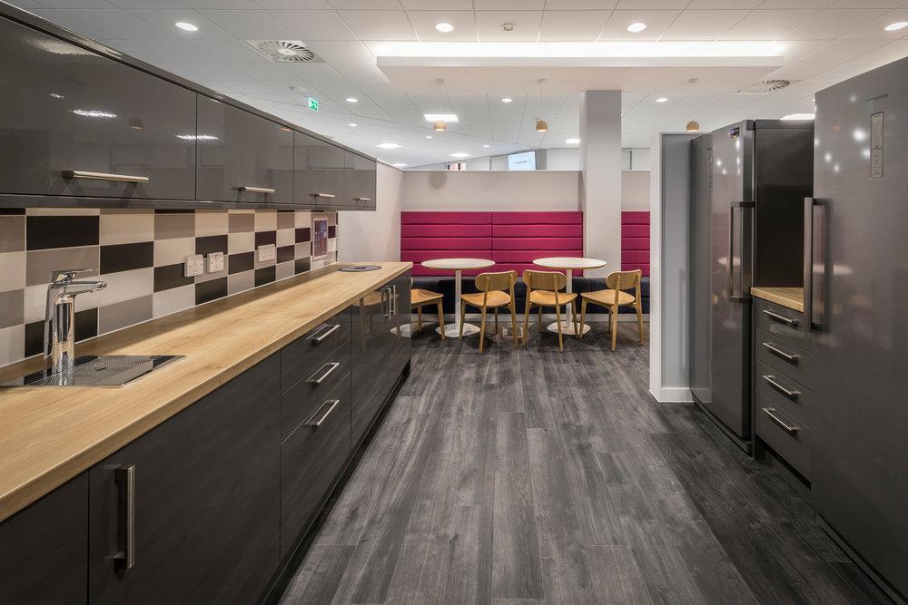 Grey and light oak kitchen