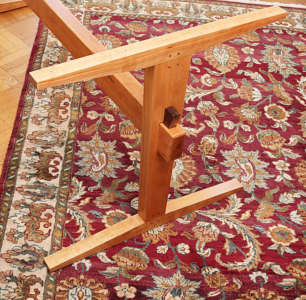 Cherry trestle legs/rails for existing table top
