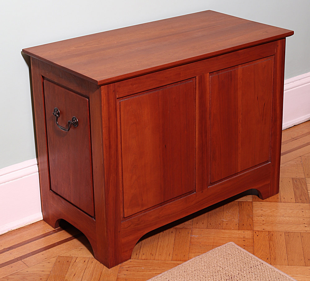 Shaker Cherry Sewing & Toy Chest
