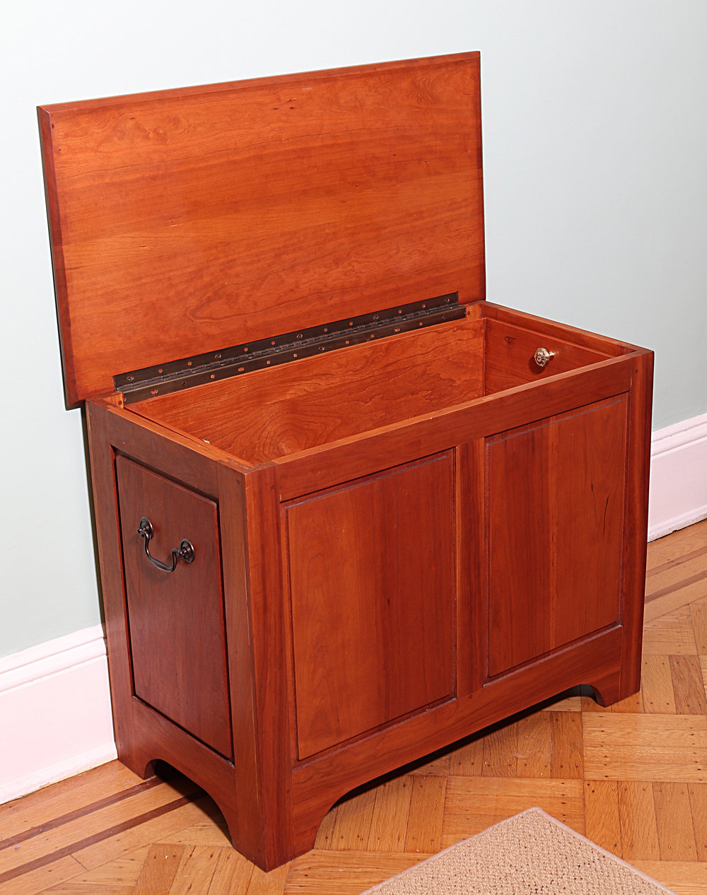 Shaker style cherry sewing or toy chest