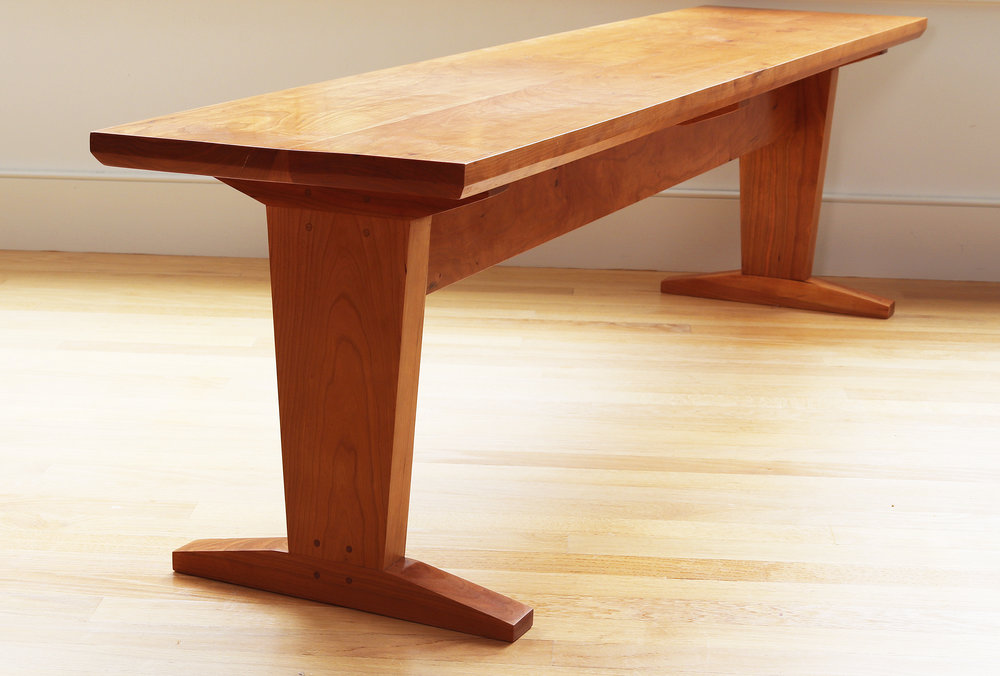 """Large cherry dining table bench: 54"""" x 15"""" x 18"""" high"""