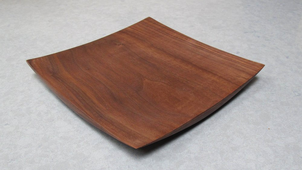 "9"" x 9"" Walnut Wing Tip Plater $90 + Shipping"