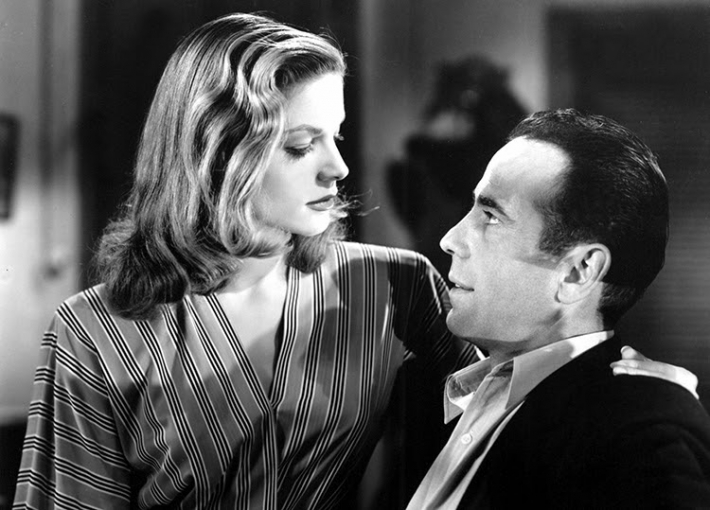 Bacall and Bogart still from  TO HAVE AND HAVE NOT