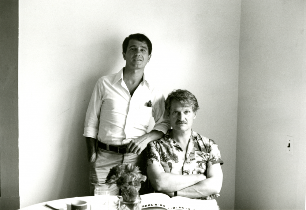 David Kermani and John Ashbery. Photograph by Clarice Rivers, Summer 1977. © Clarice Rivers. From the John Ashbery Papers, (*89M-58, box 49), Houghton Library, Harvard University.