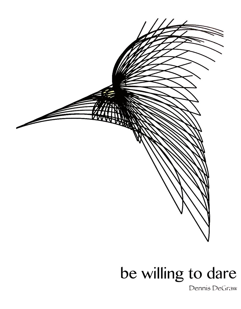 Be Willing To Dare, a collection of poems recently published in book form. Thriving on the    testament of truth, pursuit and the triumph of resistance, the book is a manifestation of words on the beauty of life and dreams captured by believing. Be Willing To Dare is an    expanded version of DeGraws entry into new territories that represent his duality as an artist and his unique contribution to the art world.