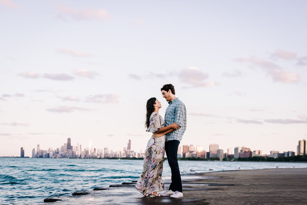 Engagement Lifestyle Session Montrose Beach Chicago