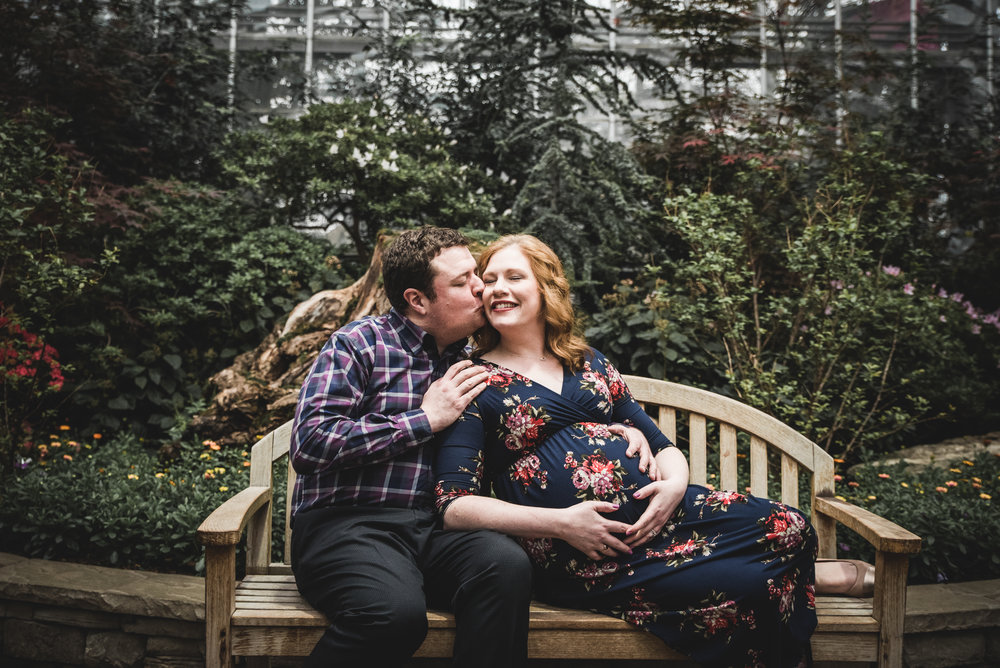 Chicago Maternity Photography Session at the  Garfield Conservatory