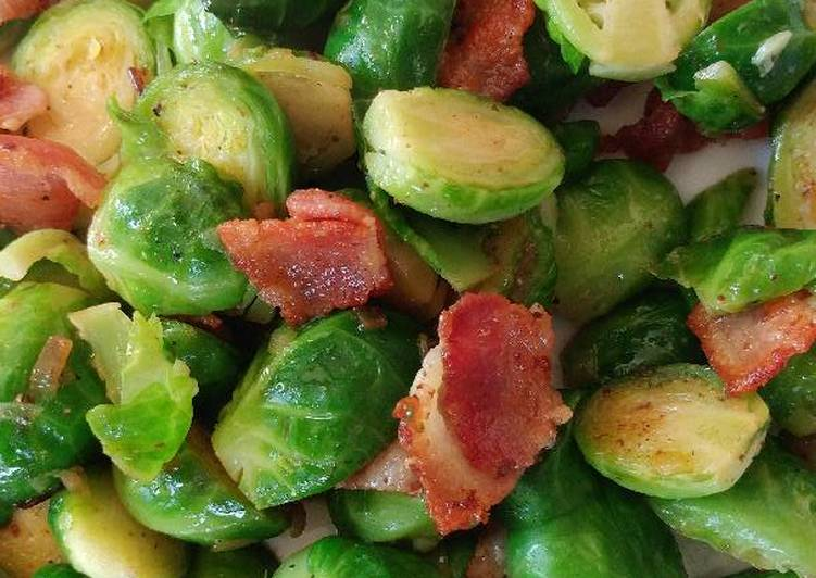 Caramelised bacon and brussel sprout