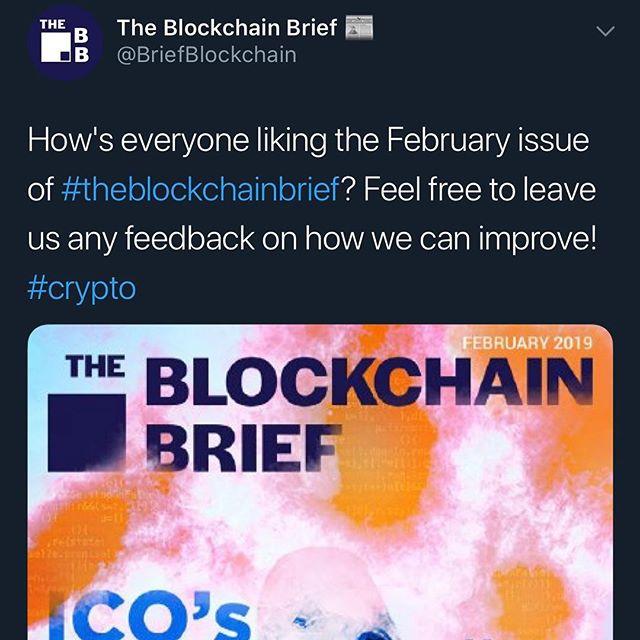 Let us know! ——————————————————————————— #neo #btc #eth #ltc #xrp #bch #bitcoin #litecoin #ethereum #ripple #bitcoincash #cryptocurrencies #cryptocurrency #theblockchainbrief #cryptonews  #crypto #cryptocurrencynews #newsletter #decentralize