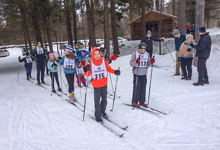 Bill Koch skiers start the Shen Classic Race, 2017.