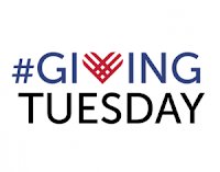 #GivingTuesday logo, including a heart-shaped letter V
