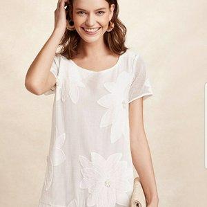 76c73b56d9a2 Maeve Ivory Flower Dress - size Medium