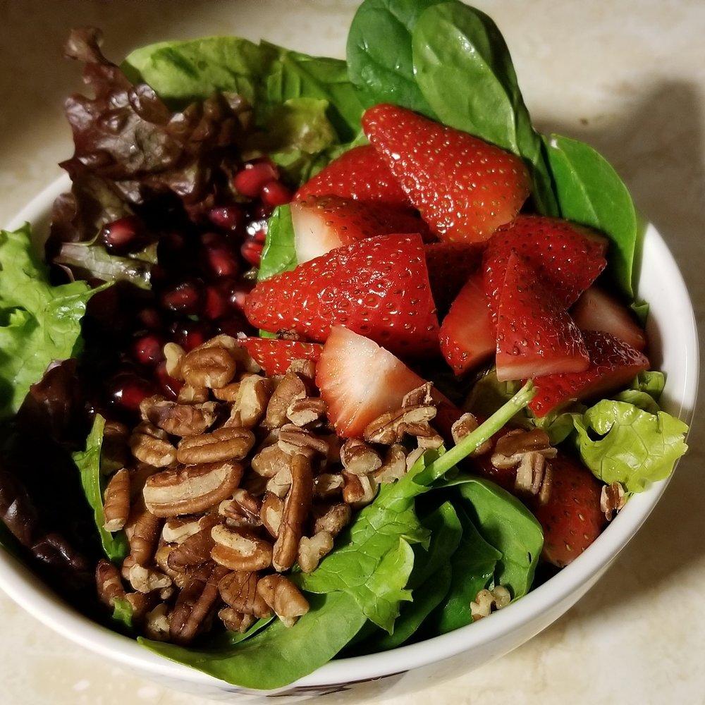 Strawberry Pomegranate Mixed Greens Salad -