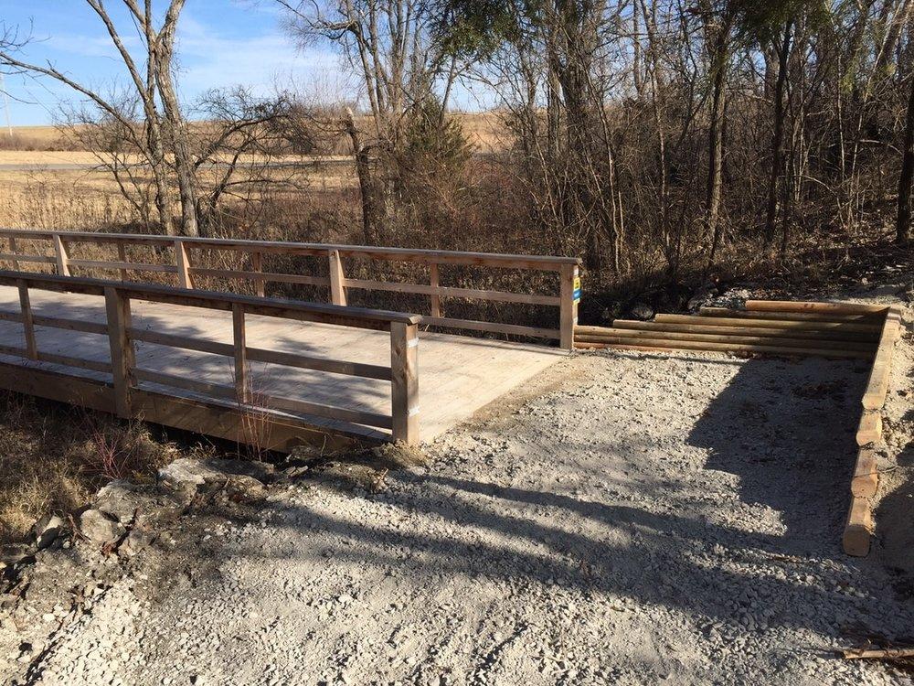 January 2017 - Rerouted trail near Walmart Bridge