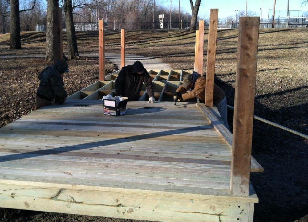 January 2014 - Bridge design by Pfefferkorn Design & Construction LLC; installation by Paola Public Works Department