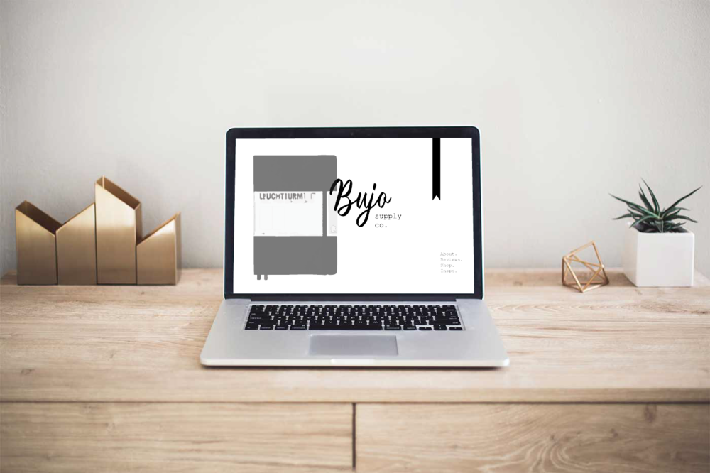 Bujo Supply Co. - A multi-page website I designed for a fictional stationary company.see full design