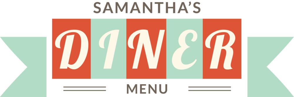 Diner Logo & menus - A logo and 2 of the menus created for a website I made within a one-hour timeframe for class.