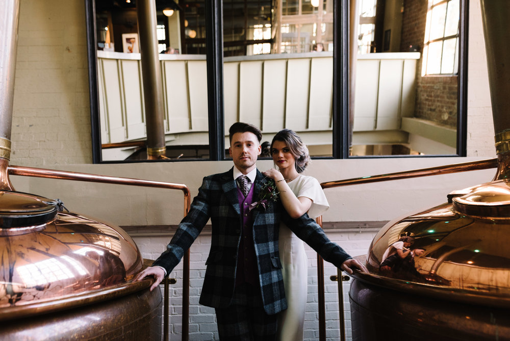 Modern Wedding Inspiration Shoot in Glasgow Brewery With a Frill Installation, Candy Floss and Neon 00277.jpg