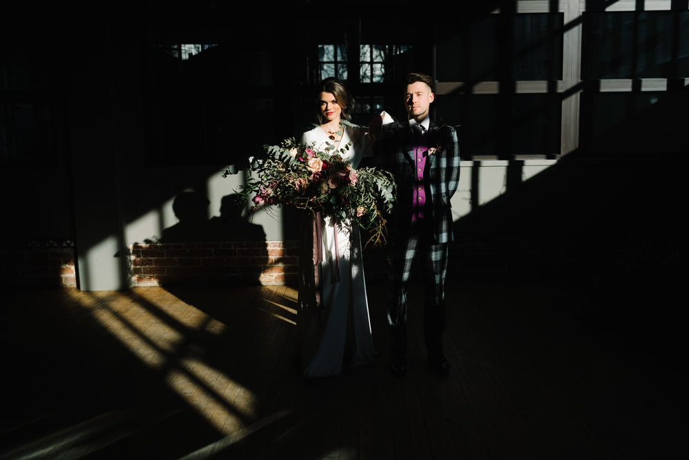 Modern Wedding Inspiration Shoot in Glasgow Brewery With a Frill Installation, Candy Floss and Neon 00115.jpg