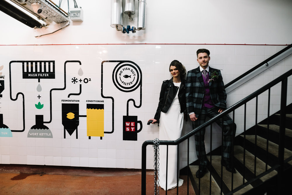 Modern Wedding Inspiration Shoot in Glasgow Brewery With a Frill Installation, Candy Floss and Neon 00039.jpg