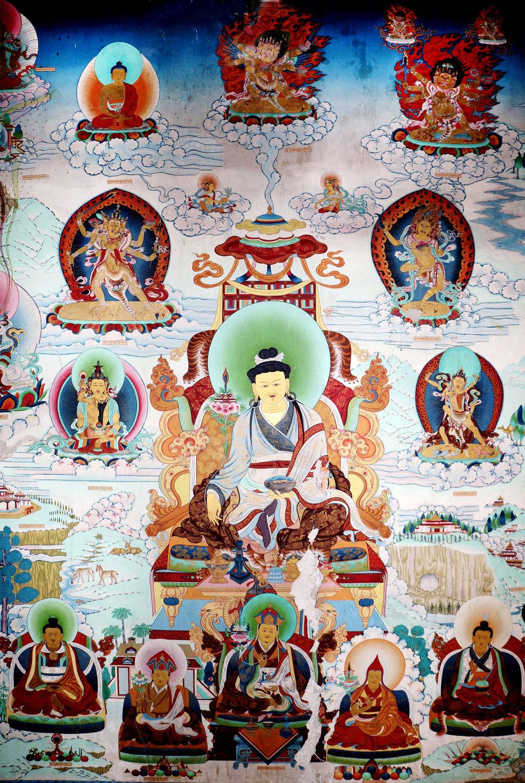 伏藏師壁畫