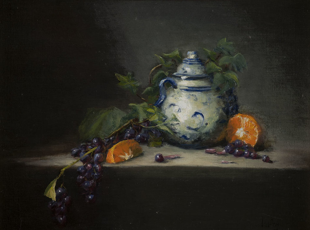 Classical still life oil painting by Paul Kirby