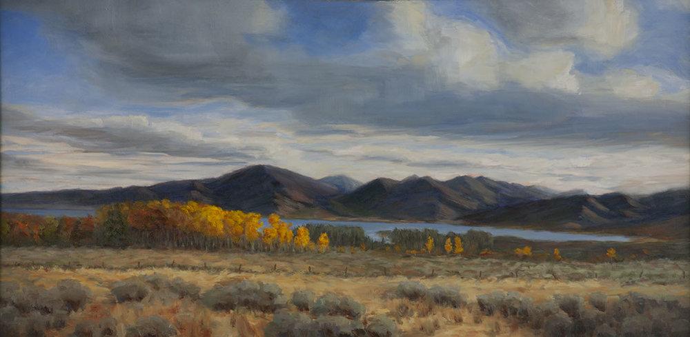Henry's Lake, Idaho, oil painitng by Paul Kirby