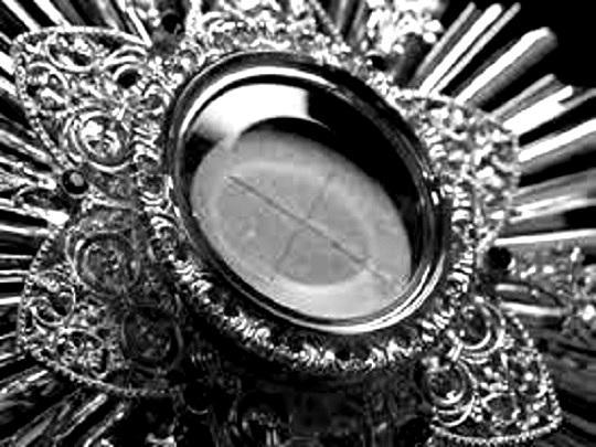 "Eucharistic Adoration - Given the wonderful response to our Eucharistic Adoration on the Solemnities of Christ the King and Epiphany, we will have Eucharistic Adoration on the first Sunday of each month. That means that our next Sunday Eucharistic Adoration will be Sunday, February 3rd beginning at the end of the 11:30am Mass and ending at 4:30pm with benediction before the 5:00pm Mass. Let's plan on accompanying Christ on this day of blessing for our parish. As St. Alphonsus Liguori says, ""Of all devotions, that of adoring Jesus in the Blessed Sacrament is the greatest after the sacraments, the one dearest to God and the one most helpful to us."""