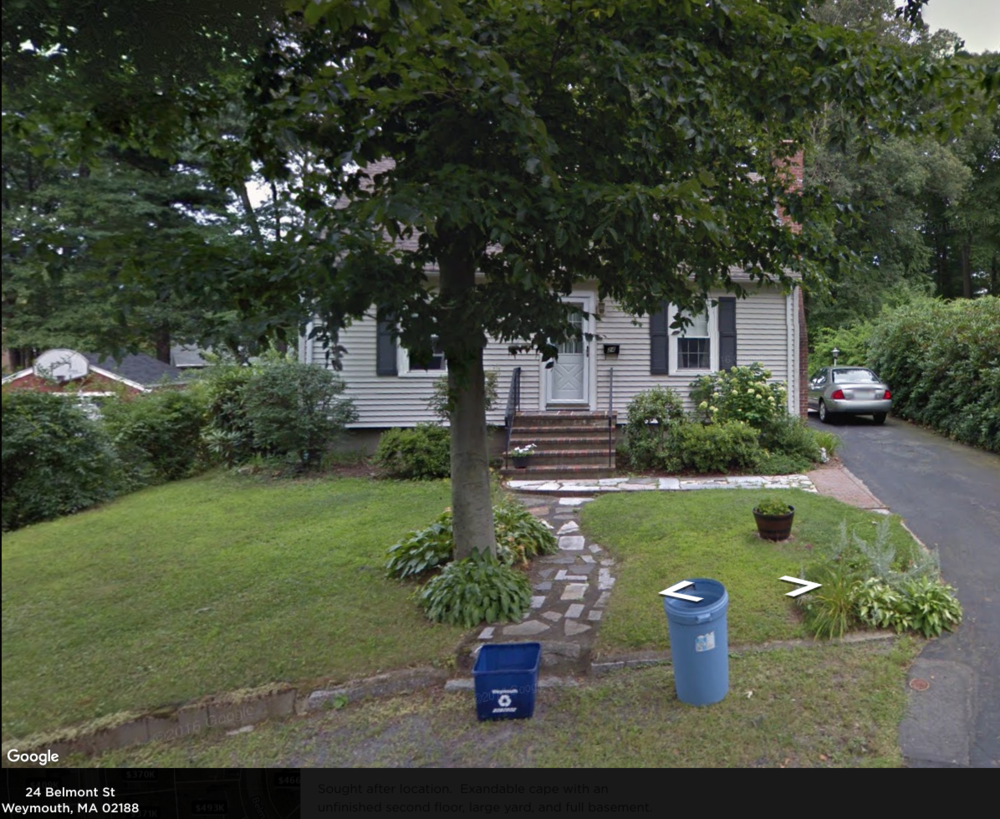 Sought after location. Expandable Cape Cod with an unfinished second floor, large yard, and full basement. Gas home; Recent roof, updated heat, electric and windows. Built 1947. 2 bed 1 bath 720 square feet. Real Estate Taxes $3,420. Zillow November 14, 2018