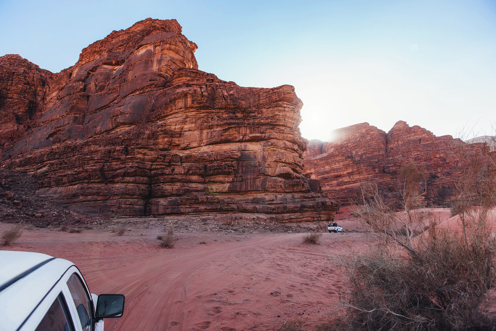 (Quick way to get around in the desert.)  Wadi Rum,  Jordan .
