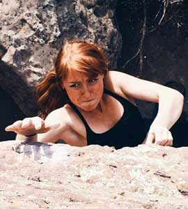 "Nicole Miswell - Hometown: Westminster, COHobby: Wrastlin' Colorado pebbles and playin' funky tunesMusic: Zeppelin! Pink Floyd! Hendrix!Vacation: Mars 2020Quote: ""It goes, boys"" -Lynn HillMovie: Fantasia, Samsara, MeruBook: The Alchemist, The Dharma BumsClimbing since: 2013"