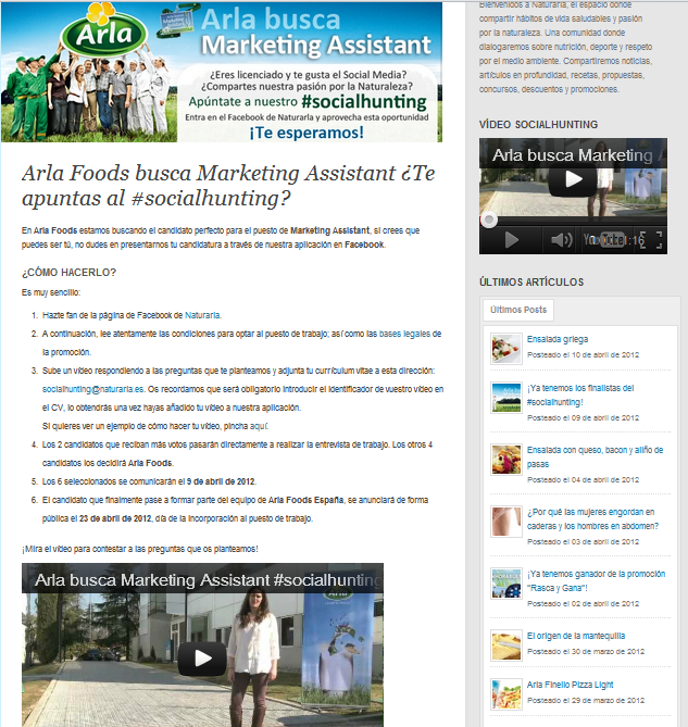 arla-marketing-assistant-video-applications-competition