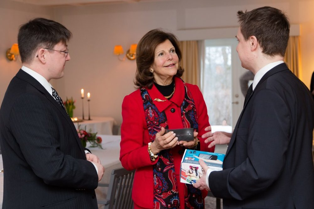 Meeting HM the Queen of Sweden for lunch, together with business partner Ykä Marjanen