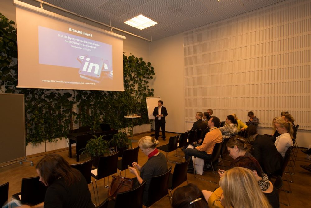 Speaking at Finland hall in Helsinki 2014