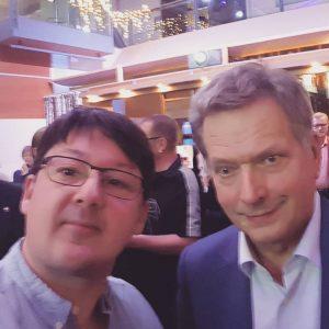 Tom with the President of Finland Sauli Niinistö