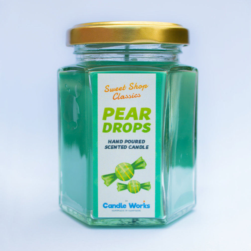 Pear Drops Scented Candle — Candle Works UK - Handmade Scented Candles, Wax  Melts, Portsmouth Candle