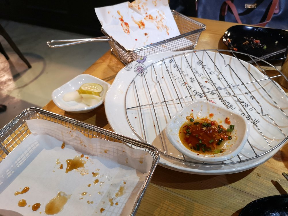 A mark of a good meal, empty plates and full stomachs.