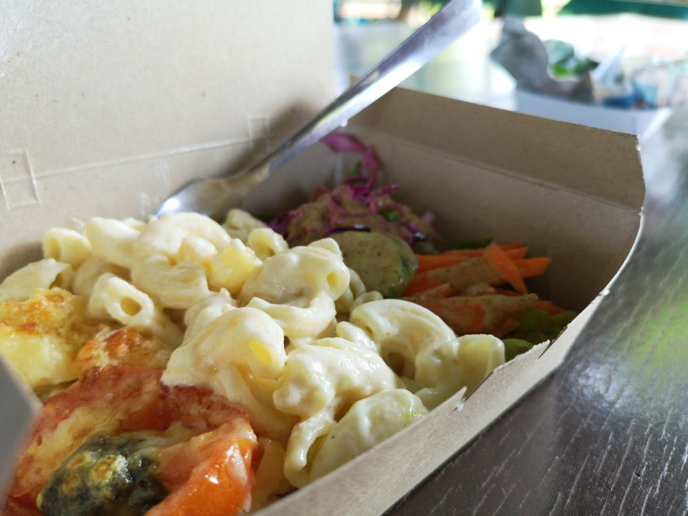 Some pasta you can get from Edible Park! Really tasty, and tastes really healthy too!