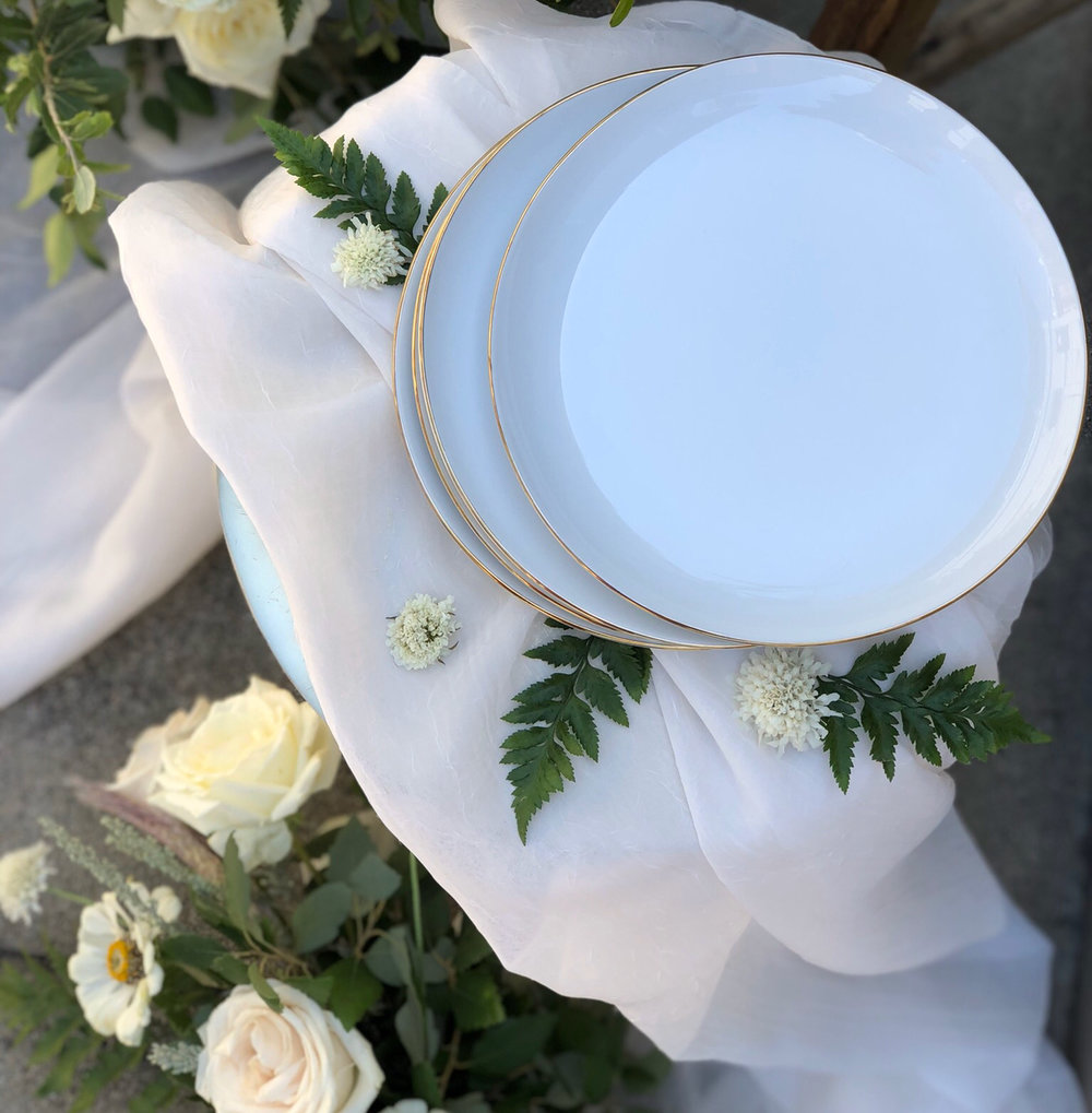 Gold Rim Dinner Plate - 150 AVAILABLE