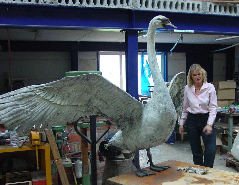 the white swan ready……