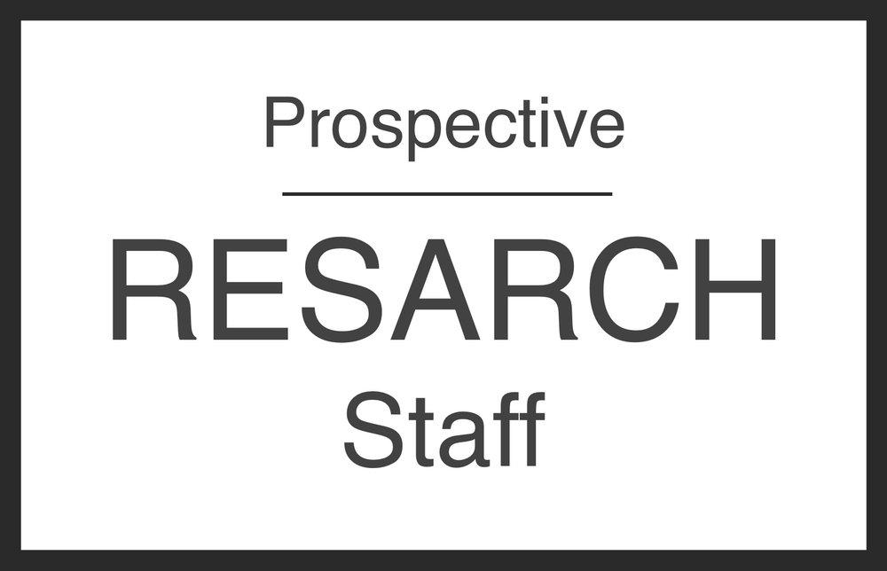 Prospective Staff