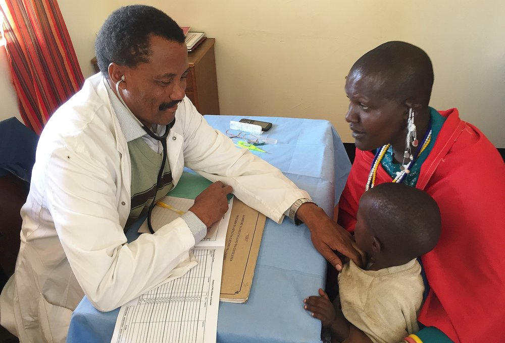 Dr. Nkambi believes that he has an advantage at Olmoti because he is Maasai himself and can speak to the local people in their native tongue.